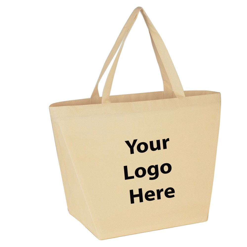 "Budget Shopper Tote Bag - 100 Quantity - $1.35 Each - PROMOTIONAL PRODUCT / BULK / BRANDED with YOUR LOGO / CUSTOMIZED Size: 20""W x 13""H x 8""D. by Sunrise Identity"