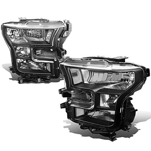 For Ford F150 13th Gen Black Housing Clear Corner Headlight Lamp