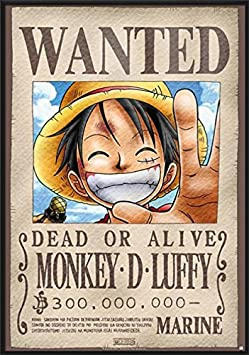 One Piece – Framed Manga Anime TV Show Poster Print Wanted Monkey D. Luffy Size 27 inches x 39 inches