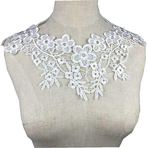 (Lace Collar Sewing Fabric Beautiful Embroidered Venise Lace Neckline Collar Embellishment Sewing Applique Trims Supplie)