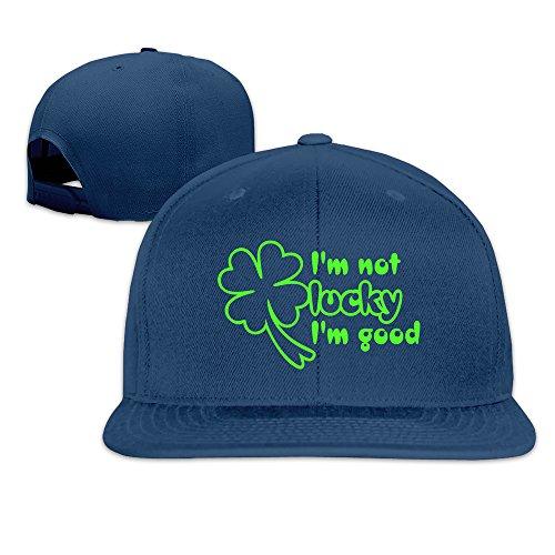 Z-Jane I'm Good Lucky Clover Graphic Dancing Hip Hop Cap Baseball Hat Adjustable Snapback Flatbill - Station Watch Outlet Online