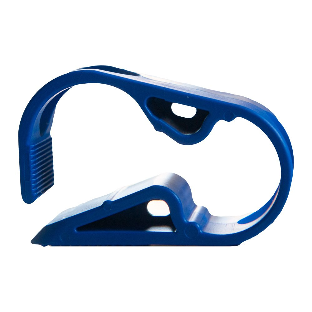 Blue 1 Position Acetal Plastic Tubing Clamp for Tubing up to 0.25 OD 12 Clamps