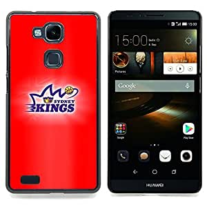 - Kings Basketball - - Cubierta del caso de impacto con el patr??n Art Designs FOR HUAWEI Ascend Mate 7 Queen Pattern