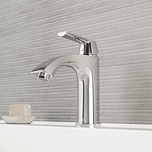 VIGO VG01028CH Penela Bathroom Faucet, Single-Hole Deck-Mount Lavatory Faucet with Plated Seven Layer Polished Chrome Finish