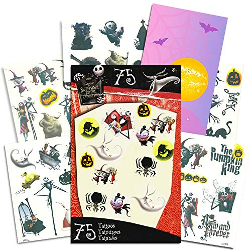 Nightmare Before Christmas Tattoos - 75 Temporary Tattoos ~ Jack Skellington, Sally, Oogie Boogie, and More!]()