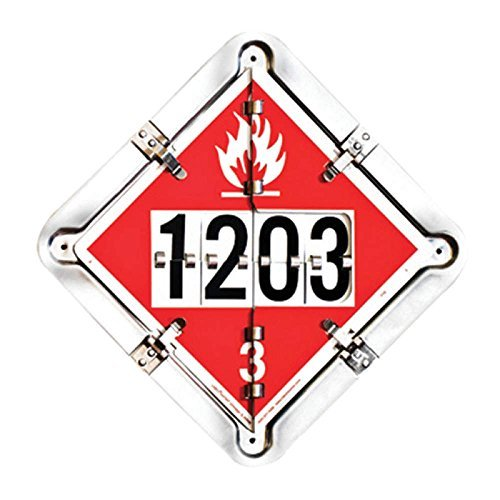 Labelmaster 126CT-206 7 Legend Hazmat Flip Placard System for Tankers, Full Frame