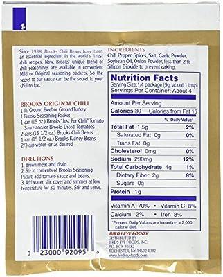 Brooks Secret Chili Seasoning Mild Keto Friendly 1 25 Ounce Pack Of 24 Amazon Sg Grocery Gourmet Food