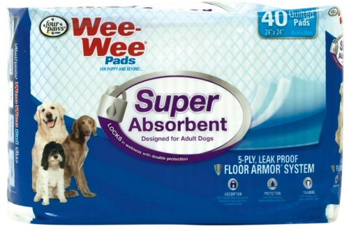 Four Paws Adult 24″x24″ 240 pk Wee Wee Pads (6x40pk) For Sale