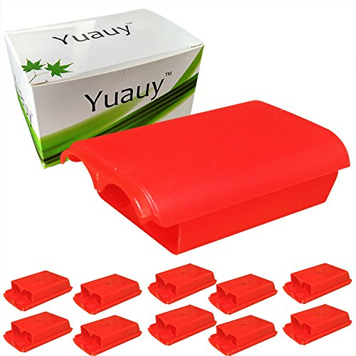Live Package Xbox (Yuauy 10 PCs Red Battery cases for Xbox 360 wireless controller replacement)