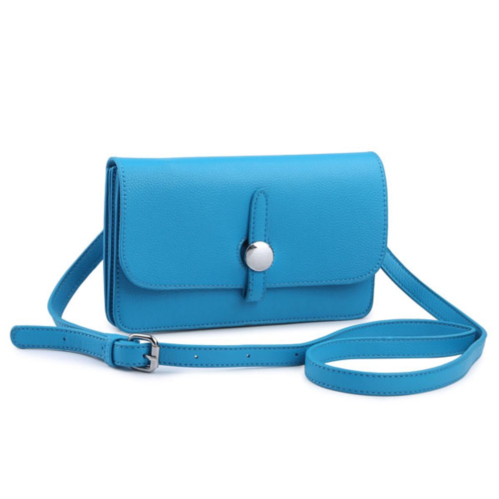Craze London Womens Small Clutch Bags with Wristlet and Long Adjustable and Detachable Strap