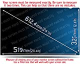 24 Inch Computer Privacy Screen Filter for Widescreen Computer Monitor - Anti-Glare - Anti-Scratch Protector Film for data confidentiality - 16:10 Aspect Ratio - PLEASE MEASURE CAREFULLY!