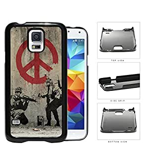 Soldiers Anti-War Peace Symbol Painting Hard Plastic Snap On Cell Phone Case Samsung Galaxy S5 SM-G900