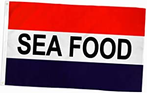 ALBATROS 3x5 Foot Sea Food Advertising Flag- Made of Durable 100D Polyester - Two Brass Grommets