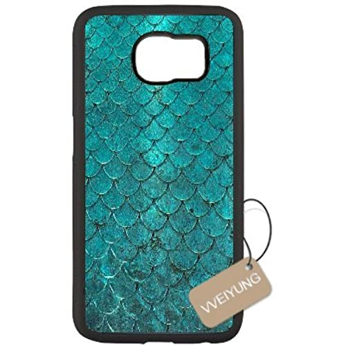 Diy Customized Cell Phone Case for Mermaid Scales Black Samsung Galaxy s7 Hard Back Cover Shell Phone Case (Fit Sales