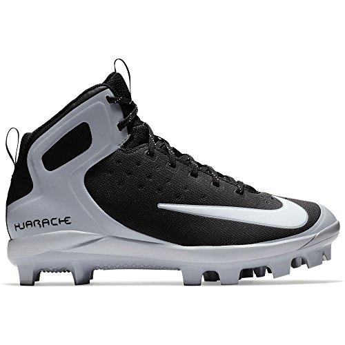 NIKE Men's Alpha Huarache Pro Mid MCS Baseball Cleat Black/White/Wolf Grey outlet store locations oChm2