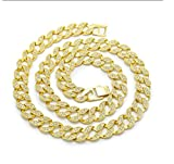MCSAYS Fashion Hip Hop Mens Gold Miami Cuban Chain Cz Crystal Full Stone Iced Out Necklace Chain