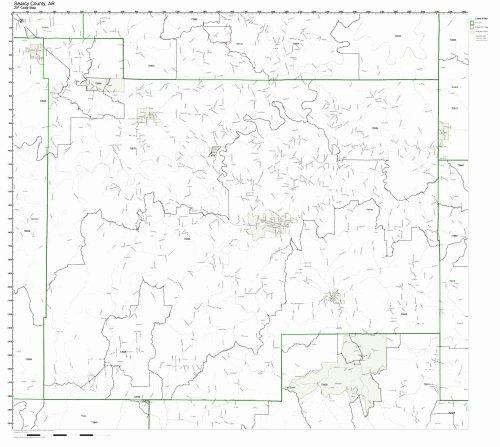 Arkansas County Maps - Searcy County, Arkansas AR ZIP Code Map Not Laminated