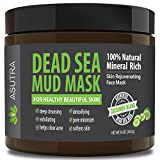 "ASUTRA Organic Dead Sea Mud Mask,""CUCUMBER BLEND"" + FREE Applicator Brush, Combat Acne, Oily Skin & Blackheads, Minimize Pores, For Smooth, Beautiful & Healthy Looking Skin, 16 oz"