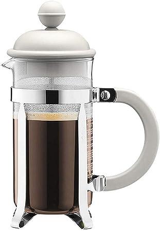 Nobrannd Cafetera de émbolo Café Appliance Mano de Cristal ponche Pequeño Portable del Filtro Tetera de pequeña Capacidad Tomar Decisiones más rápidas café Fresco (Color : White, Size : 350ml): Amazon.es: Hogar