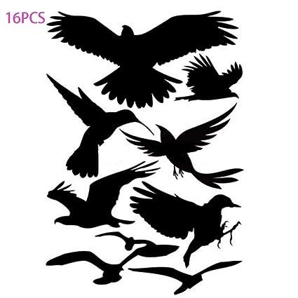 Nuluxi Schutz Vogel Fensterbilder Aufkleber Vogelaufkleber