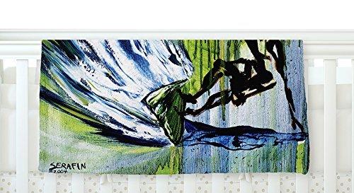 KESS InHouse Josh Serafin Greenroom Green Surfer Fleece Baby Blanket 40 x 30 [並行輸入品]   B077ZT5C75