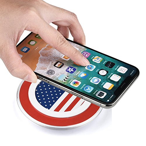 Foster Gadgets Qi Wireless Charger Pad for All Qi Enabled Phone and Smartphone: iPhone 8, 8 Plus, iPhone X, Charger for Samsung Galaxy