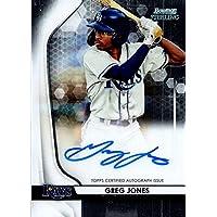 $27 » Autograph Warehouse 653494 Greg Jones Autographed Baseball Card - Tampa Bay Rays - 2020 Bowman Sterling Rookie No.BSPAGJ