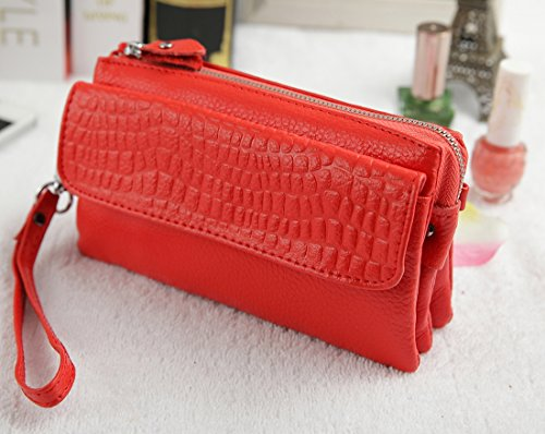 Shoulder Bag body for Ladies Genuine Heshe Bags Cross let Leather Red Womens Jester Clutches Pocket Satchel Handbags Wrist UP8Hq