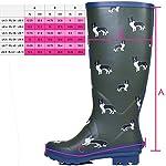 Spylovebuy Igloo Women's Adjustable Buckle Flat Festival Wellies Rain Boots 10