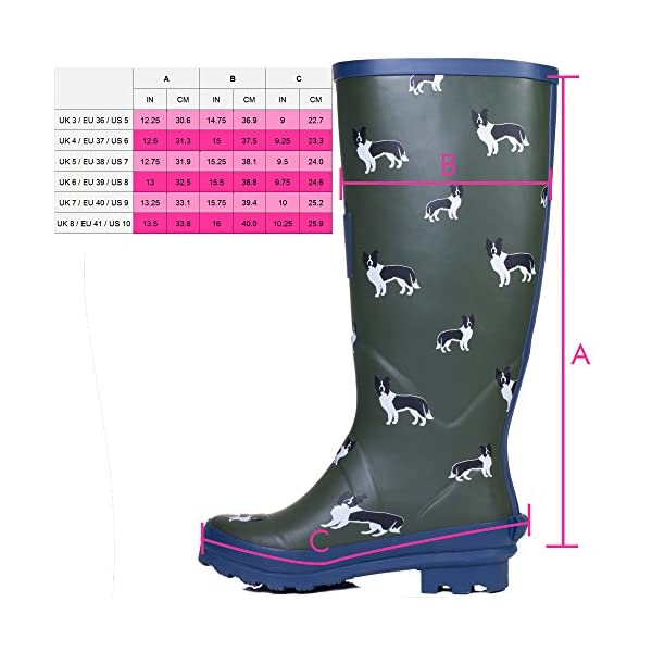 Spylovebuy Igloo Women's Adjustable Buckle Flat Festival Wellies Rain Boots 5