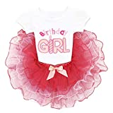 Baby Toddler Birthday Girl Outfits Smash Cake Top Shirt + Tutu Skirt 2PCS Set First Birthday Party Princess Photography Prop Clothes Playwear 12-18 Months