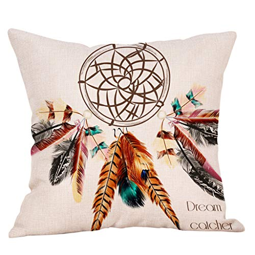 - Throw Pillow Covers, Fulijie Feather Print Upholstery Cushion Cover Throw Pillow Case for Bed Car Home Sofa 18 x 18 Inch
