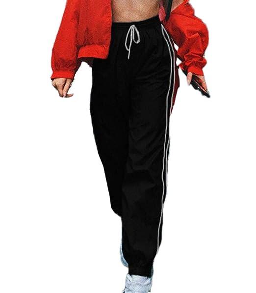 81dba9e1db7d6 Huateng Pantalones de Chándal para Mujer Pantalones de Gimnasia Deportiva