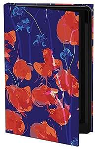 Keka Classic Isabel Isaza Trujillo Sira - Funda con cierre para iPhone 4/4S, diseño estampado, color azul y rojo