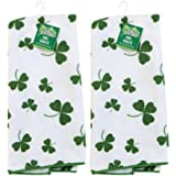 Set of 2 Kelly Green St. Patrick's Day Shamrock Microfiber Kitchen/Bar Towels