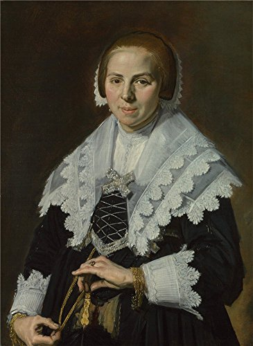 The Perfect Effect Canvas Of Oil Painting 'Frans Hals Portrait Of A Woman With A Fan ' ,size: 20 X 27 Inch / 51 X 70 Cm ,this Reproductions Art Decorative Canvas Prints Is Fit For Kitchen Decoration And Home Decor And Gifts
