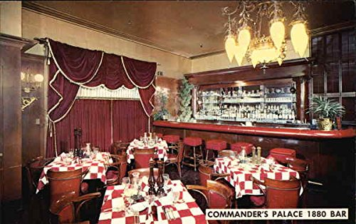 - Commander's Palace - 1880 Bar New Orleans, Louisiana Original Vintage Postcard