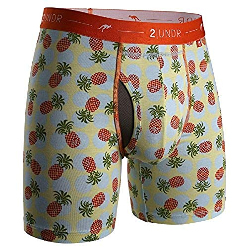 (2UNDR Day Shift Boxer Briefs,Pineapple Express,X-Large)