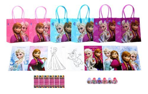 Disney Frozen Party Favor Set Style B - 6 Packs (42 Pcs) -
