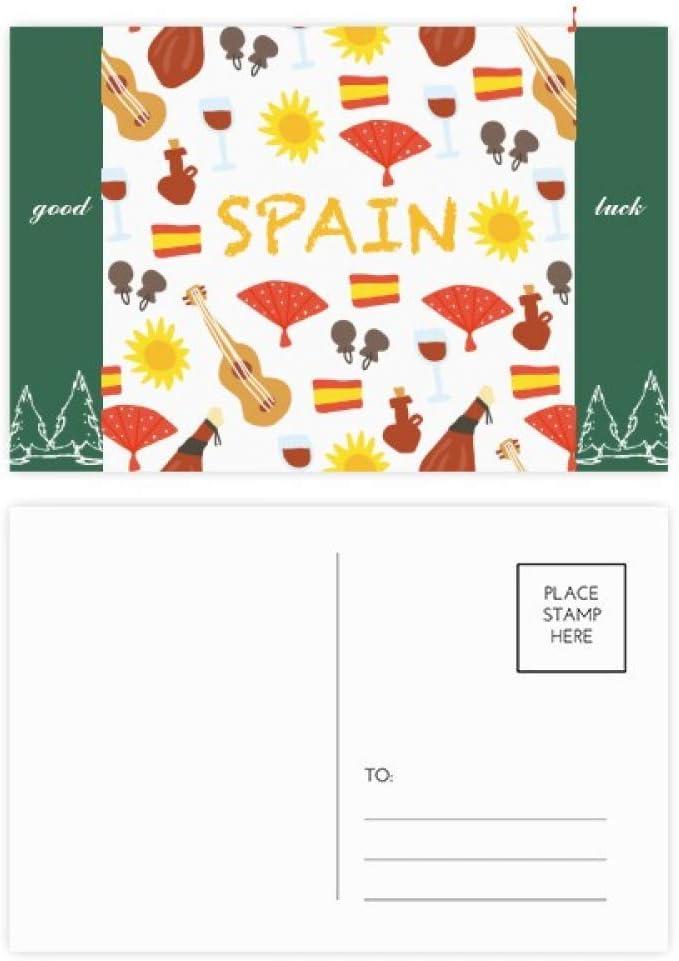 DIYthinker España Flamenco comida, buena conjunto de tarjeta postal de la suerte de correo lateral 20Pcs 5,7 pulgadas x 3,8 pulgadas Multicolor: Amazon.es: Oficina y papelería