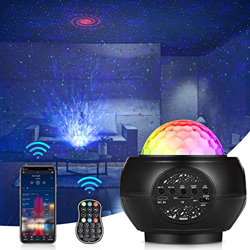 Star Projector,Starry Sky Projection Lamp (Black1)