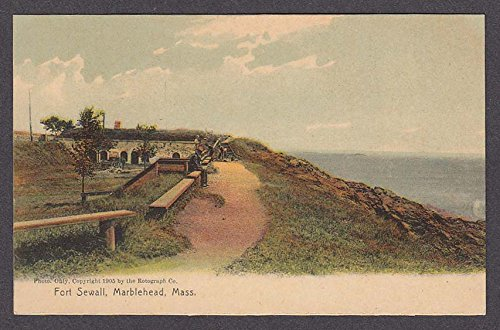 Fort Sewall Marblehead MA postcard 1910s by The Jumping Frog