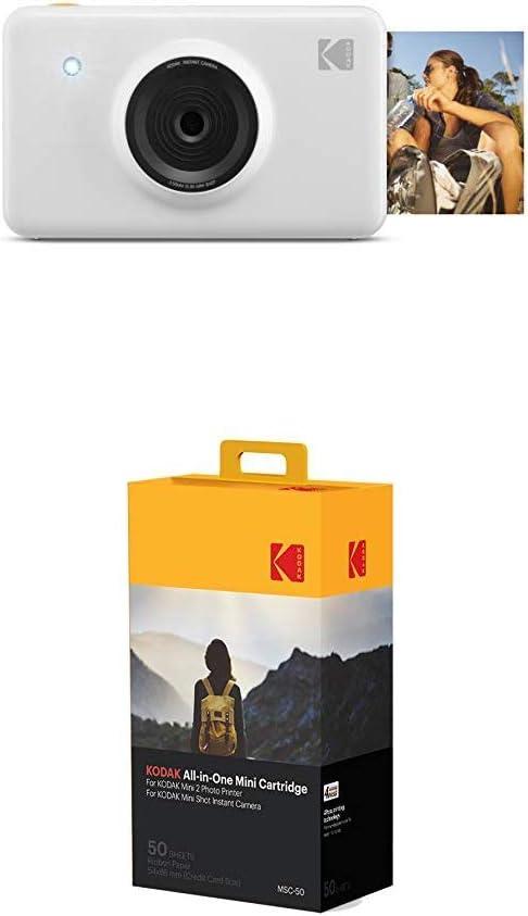 Kodak Mini Shot Wireless Sofortbild Digitalkamera Weiß 2x3 Zoll Druck Mit Patentierter 4 Pass Drucktechnologie 50