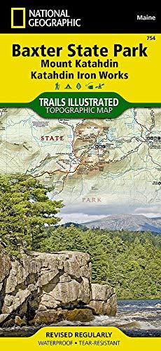 Baxter State Park [Mount Katahdin, Katahdin Iron Works] (National Geographic Trails Illustrated Map)