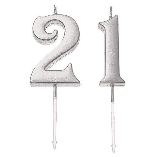 Happyyami 21 cumpleaños Pastel de cumpleaños Toppers de ...