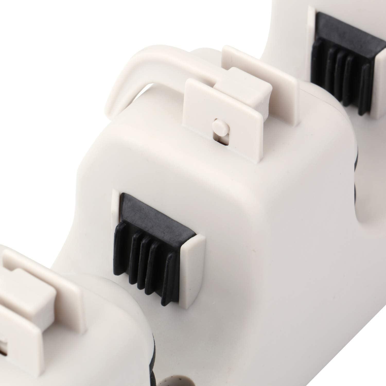 ABS Ressort et Clip en ABS 5 Positions avec 6 Crochets,17 Pouces THETIS Porte-Balai et Vadrouille /à Domicile