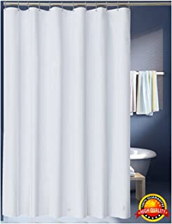 grey shower curtain liner. LanMeng Solid White Fabric Shower Curtain Liner  Extra Long Mildew Free Water Amazon com InterDesign Waterproof Mold and Resistant