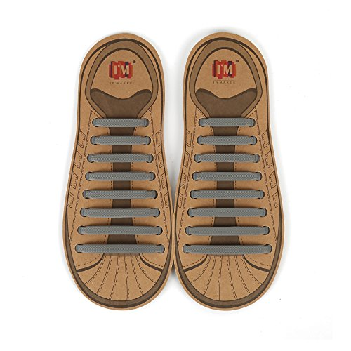 INMAKER No Tie Shoelaces for Kids and Adults, Elastic Shoe Laces for Sneakers, Silicone Tieless Laces