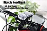 New Arrival Latest Design 4 LED Bike Bicycle Cycling Front Rear Tail Solar Energy Light Safety Caution Light Super Bright