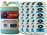 JFJ Polish Compound #1 Blue Gallon with 20 JFJ Easy Pro Buffing Pads